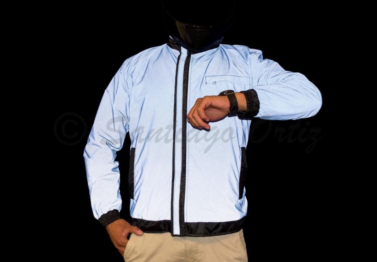 23bfc27341b chaqueta impermeable totalmente 100% reflectiva para moto. Cargando zoom.
