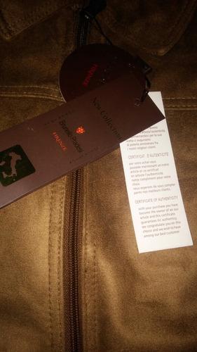 chaqueta italiana de cuero brunello pradesi original unisex