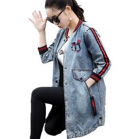 a2fed2a0f5 Chaqueta Jeans Casual Larga