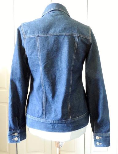 chaqueta jeans con tela gobelino