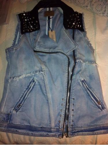 chaqueta jeans river island de londres