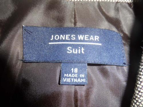 chaqueta jones wear americano talla l 18 10/10