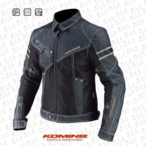 chaqueta komine moto proteccion completa en jean