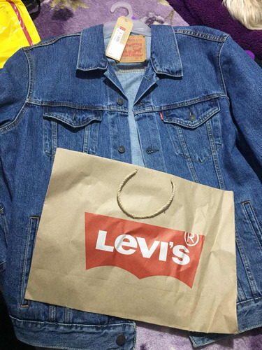 chaqueta levis original l azul