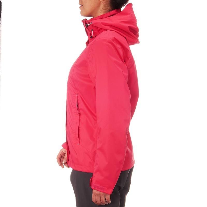 Mujer 300 Chaqueta Travesía Rosa Arpenaz Impermeable Lluvia 6qxpw0U