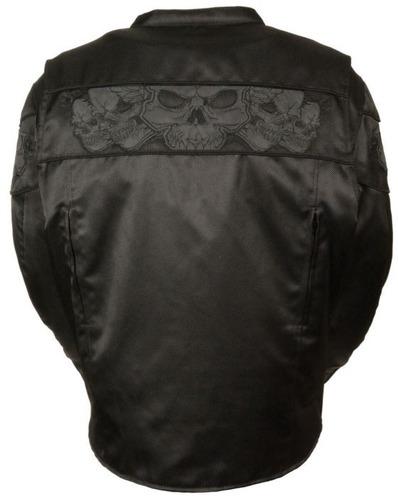 chaqueta milwaukee c/calavera reflectante p/hombre 2xl
