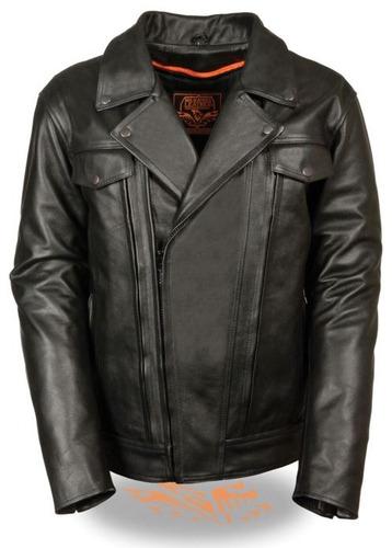 chaqueta milwaukee cuero p/hombre c/bolsillo superior xl