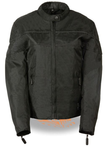 chaqueta milwaukee damas d/cuero ligera c/elástico negro 3xl