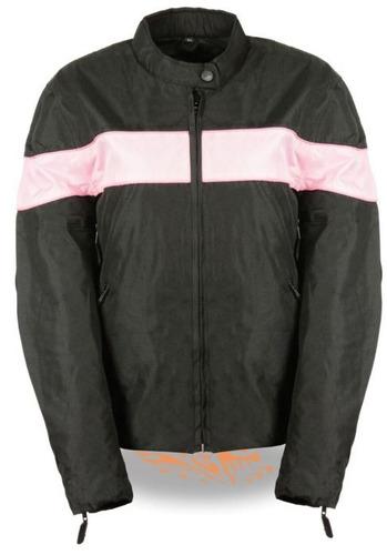 chaqueta milwaukee damas d/cuero ligera c/elástico rosa 5xl