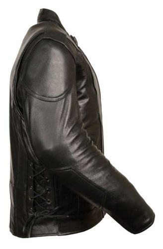chaqueta milwaukee de cuero negro c/aberturas laterales 5xl