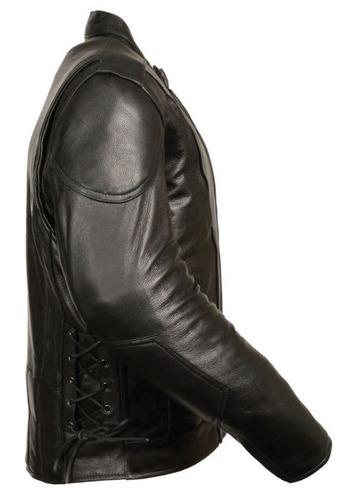 chaqueta milwaukee de cuero negro c/aberturas laterales xl