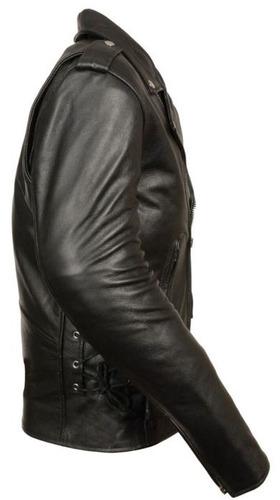 chaqueta milwaukee estilo policía m/c cuero p/hombre 2xl
