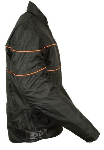 chaqueta milwaukee estilo scooter c/rayas negro p/hombre 5xl