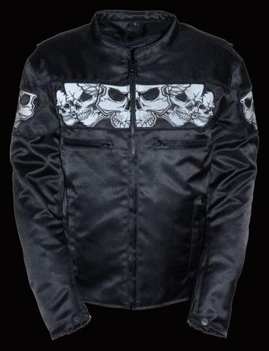 chaqueta milwaukee leather c/calavera reflectante hombre xl