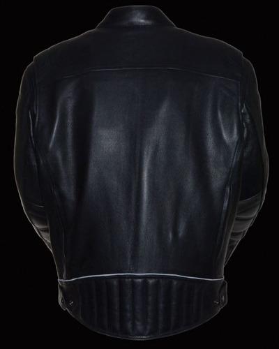 chaqueta milwaukee para hombre de cuero cuerpo más largo lg