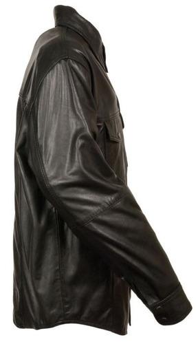 chaqueta milwaukee para hombre de cuero ligera negra sm