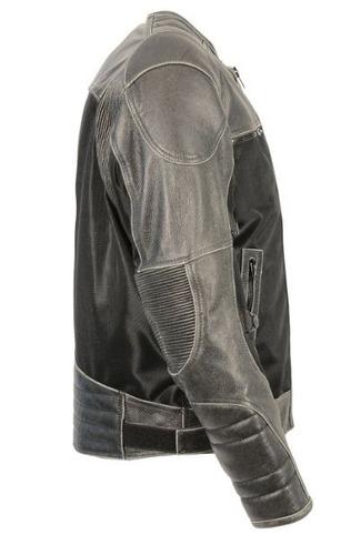chaqueta milwaukee p/hombre cuero c/inter. desmont. gris 2xl