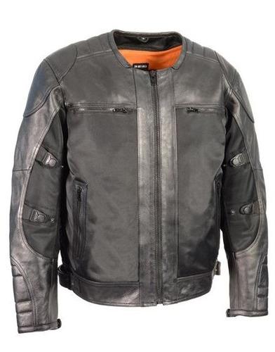 chaqueta milwaukee p/hombre cuero c/inter. desmont. gris 3xl