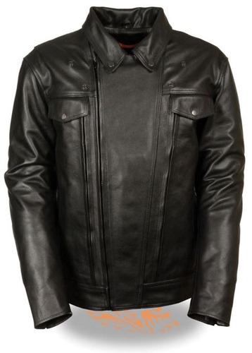 chaqueta milwaukee p/hombre ventilada c/bolsillo cuero ne lg