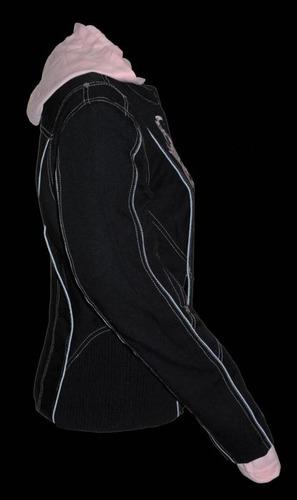 chaqueta milwaukee p/mujer cuero reflect. rosa lg