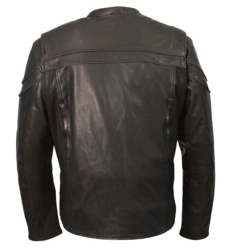 chaqueta milwaukee scooter para hombre cuero ligero negro lg