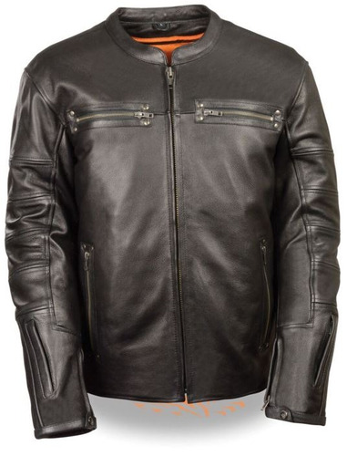 chaqueta milwaukee throwback scooter hombre cuero negro 5xl