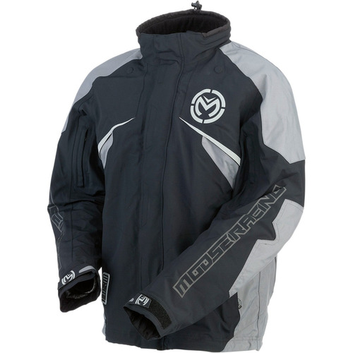 chaqueta moose racing expedition dual sport negro/gris md