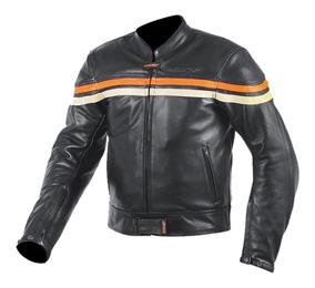 límpido a la vista mejor selección venta limitada Chaqueta Moto Cuero Hombre Negra Beige Cafe Atrox Nf-1114