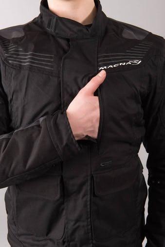 Negra Macna Chaqueta Impermeable Mentor Protección Moto 100 fTYqw68Av