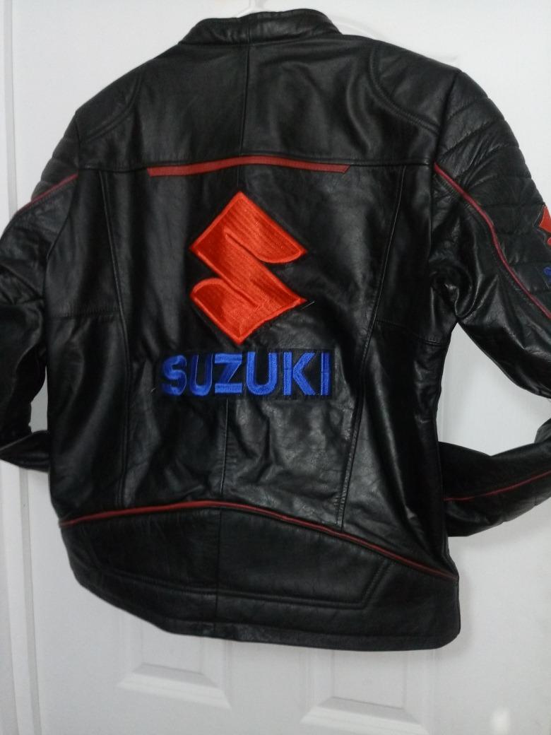 De Bordado 000 Yf4wf Suzuki Chaqueta Motocicleta Animal 70 Cuero dshxtrQC