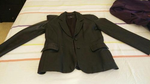 chaqueta mujer de cuerina.