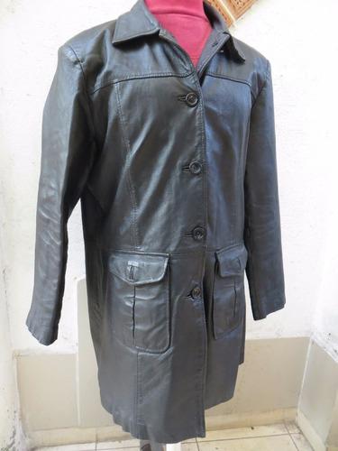 chaqueta mujer de cuero color negro talla    xl