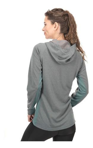 chaqueta mujer herringbone therm-pro hoody jacket palo rosa