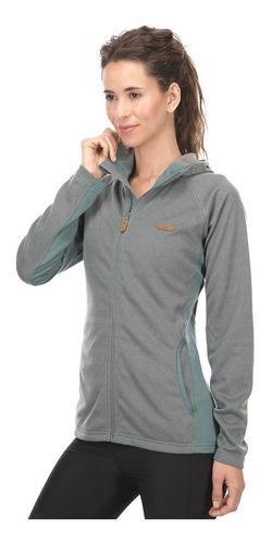 chaqueta mujer herringbone therm-pro hoody jacket turquesa v