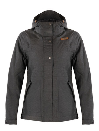 chaqueta mujer linque b-dry hoody gris oscuro lippi