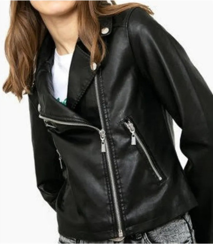 chaqueta mujer motociclista