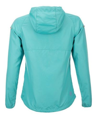 chaqueta mujer nutka windbreaker hoody jacket turquesa lippi