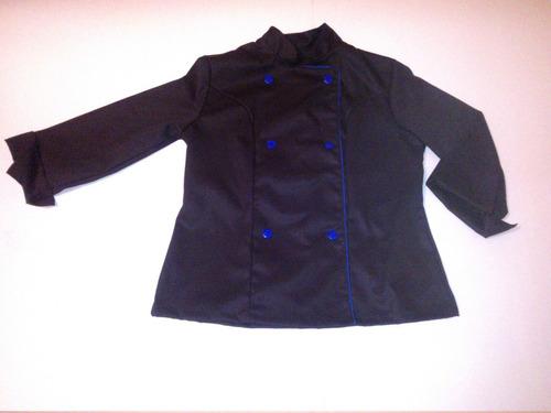 chaqueta negra de chef hecho en chile