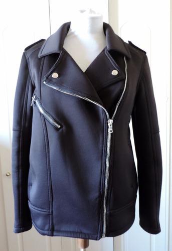 chaqueta negra motera h&m
