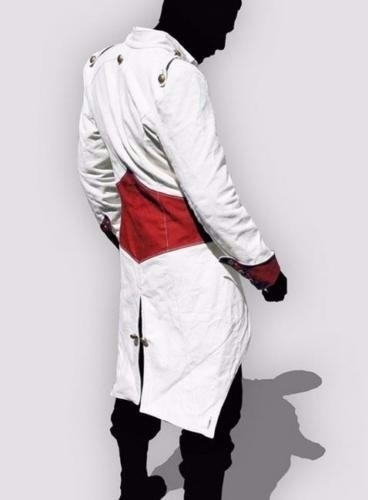 chaqueta negra roja jacket fashion hombre assassins creed //
