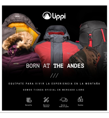 chaqueta niña bewarm 2-face hoody jacket uva / print uva lip