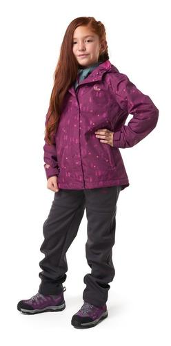 chaqueta niña lippi torreto b-dry hoody jacket morado i19