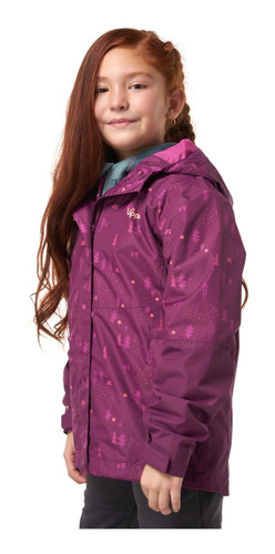 chaqueta niña lippi torreto b-dry hoody jacket rojo i19
