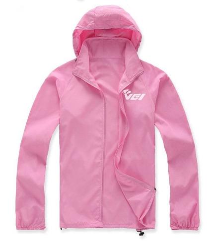 chaqueta para ciclismo vei original - color rosa talla l
