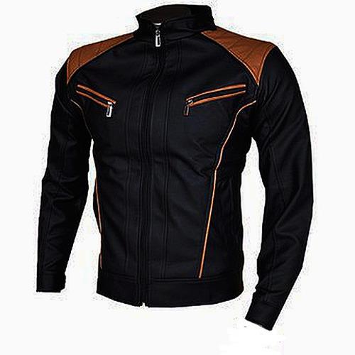chaqueta para hombre cuero sintético  garantizada 30% off