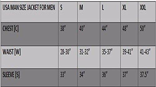 grado completo Chaqueta deportiva de motorista de piel de alta protecci/ón color negro LJ-2020MR