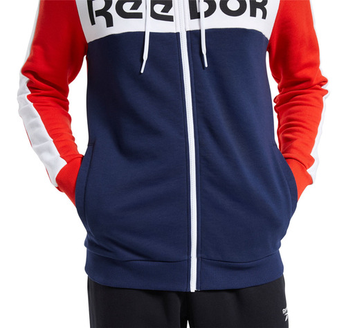 chaqueta para hombre reebok te ll fz hoodie