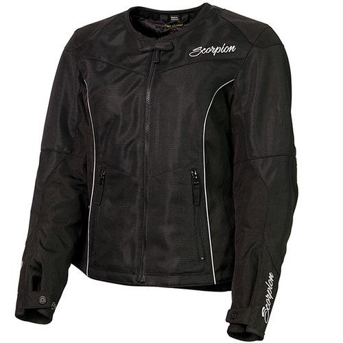 chaqueta para motocicleta scorpion verano p/mujer negra lg