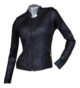 venta caliente online 585b6 6a590 Chaqueta Para Mujer En Cuero Sintético Garantizada 30%off