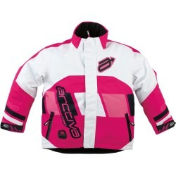 chaqueta para nieve arctiva comp juvenil rosa/blanco 14